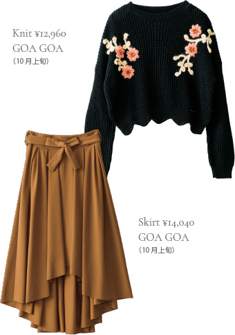 Knit ¥12,960 GOA GOA (10月上旬)